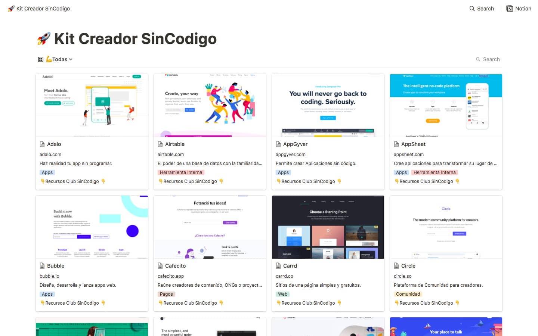 Kit del Creador SinCodigo